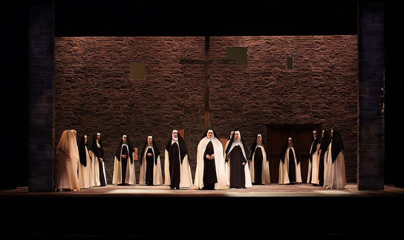 Nuns greet the New Prioress